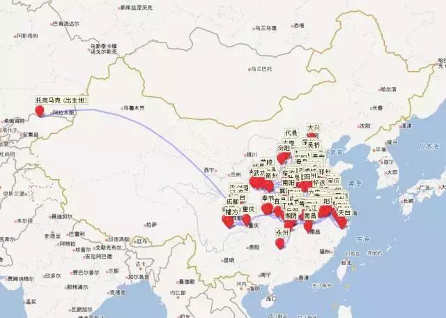 趣味知识|有人把李白杜甫一生的足迹做了张地图,发现了大事情!