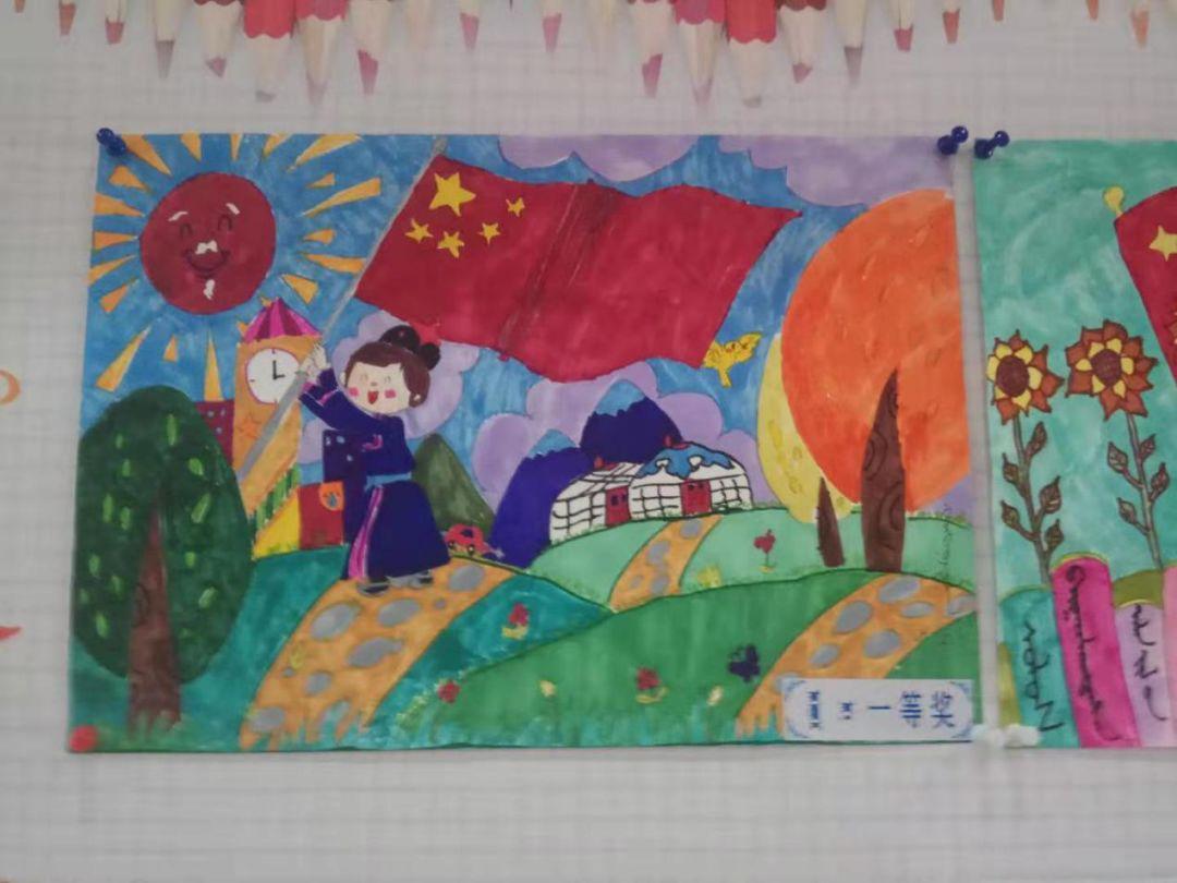 苏尼特右旗图书馆举办 庆祝建国70周年 我美丽的家乡 少儿绘画比赛