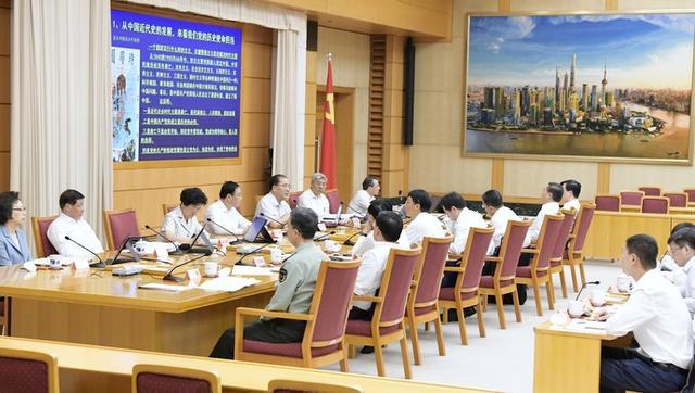 知史爱党、知史爱国!上海市委常委会专题学党史、新中国史