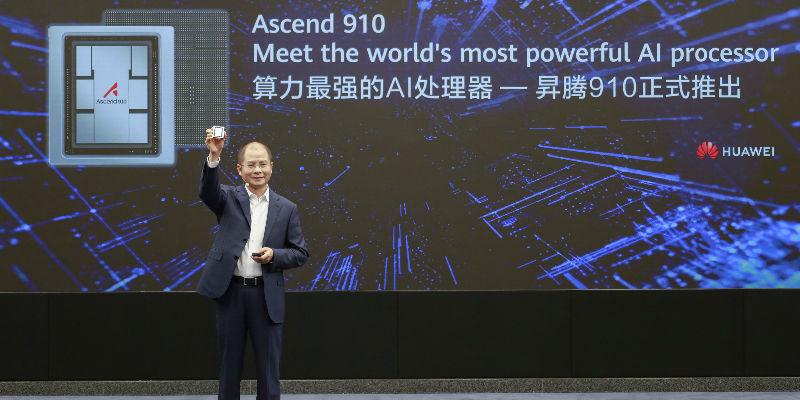 华为AI进阶:最强AI处理器昇腾910发布 MindSpore明年开源