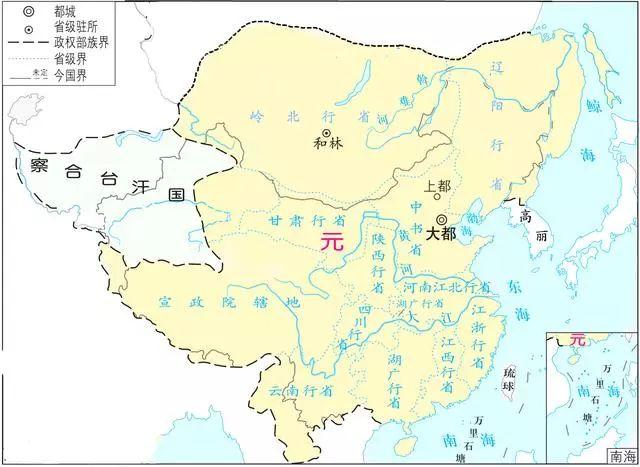 全盛时期元朝地图_【高中】从夏朝到清朝,4000多年的艰苦卓绝:从历史地图看中国 ...
