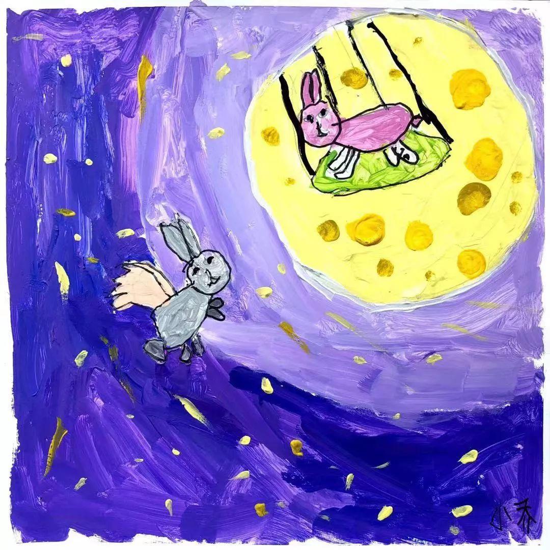 来,试试将小朋友的画进行再创作,保证你会惊讶到