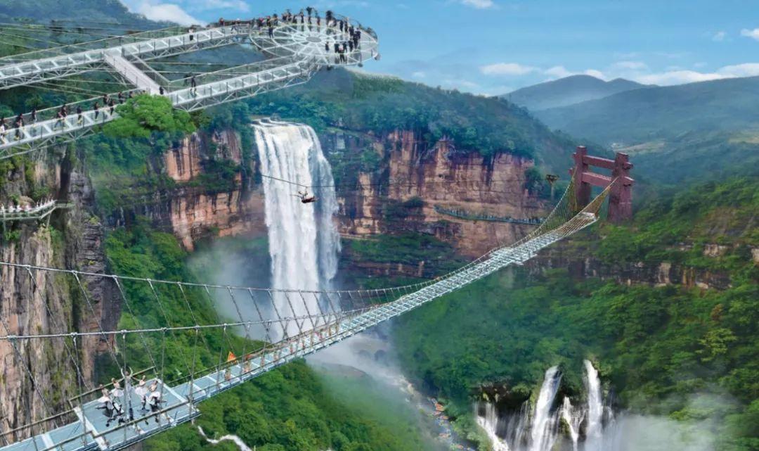 古龙峡玻璃大峡谷-云天玻霸:云端天桥,步步惊心,够胆就来