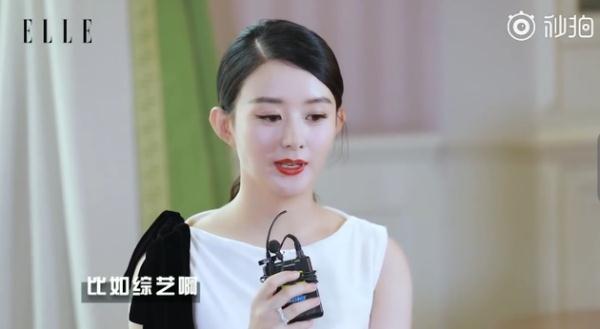 赵丽颖自曝停工期追剧看综艺称重头再来也是好事