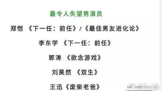 刘昊然和陈都灵被《双生》坑了,提名金扫帚奖,这届评选掺水了?