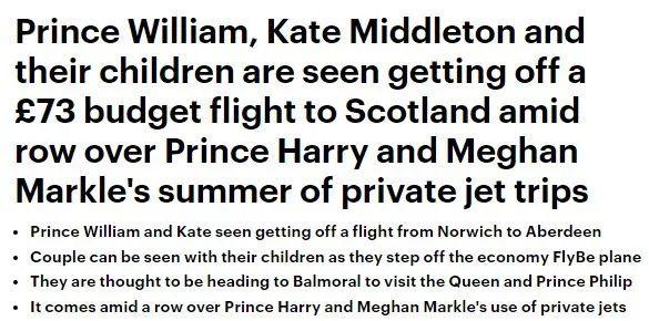 凯特威廉带娃和平民挤73镑廉航,这波黑梅根哈里的操作也是狠了...