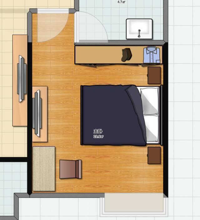 画一张卧室的平面图