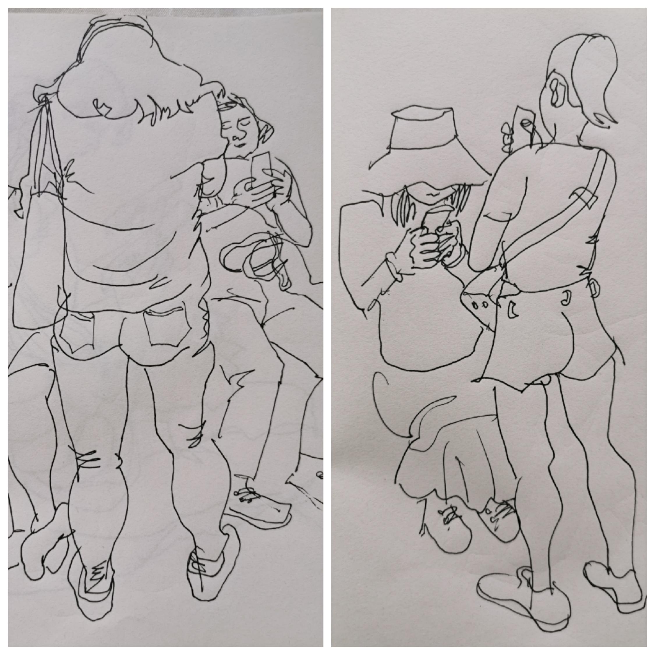 为何地铁邻座惊叹不绝?只因他画的速写外塑形体内探幽里格外传神_生活