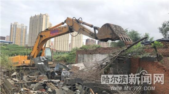 哈尔滨武威路铁顺街棚改项目拆违1万平方米