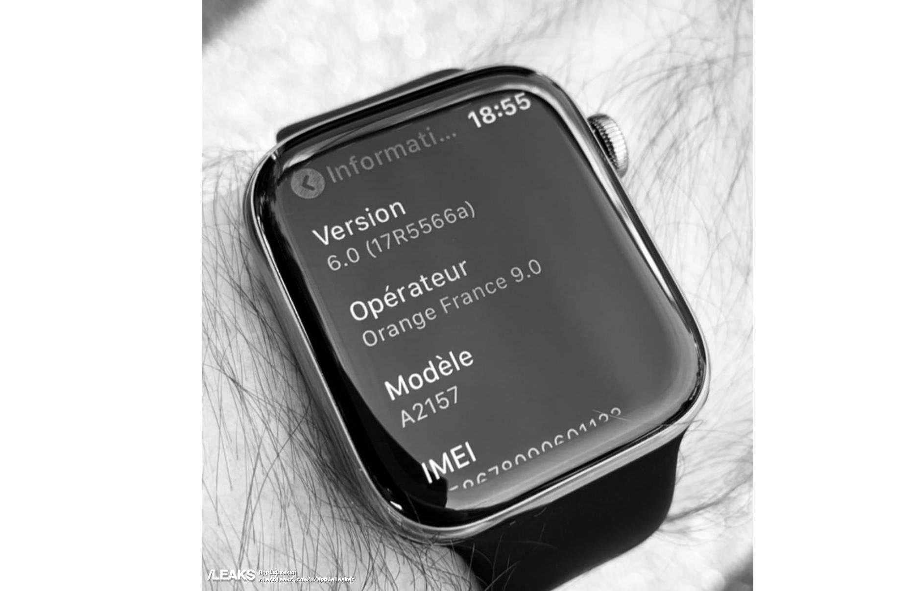 苹果Apple Watch 5真机谍照曝光:或将和新iPhone一同亮相