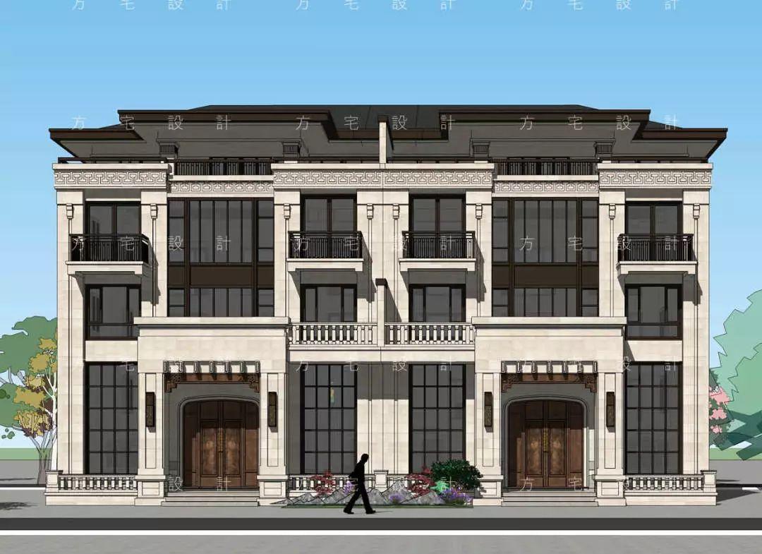 台州奚府4层新中式别墅别墅小型现代双拼层3图片