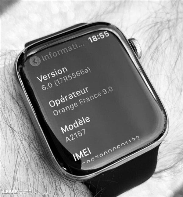 苹果Apple Watch 5真机现身:搭载WatchOS 6_设备