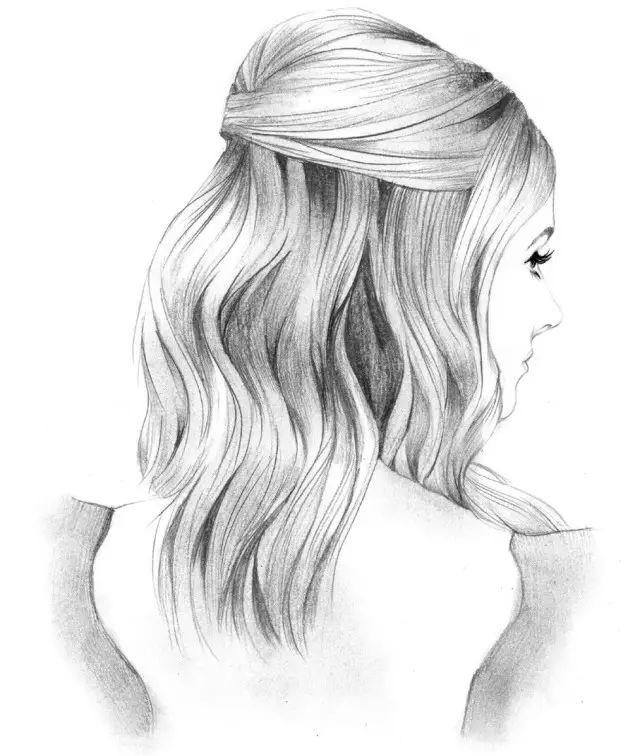 头发怎么画才好看 教你画头发,一看就会