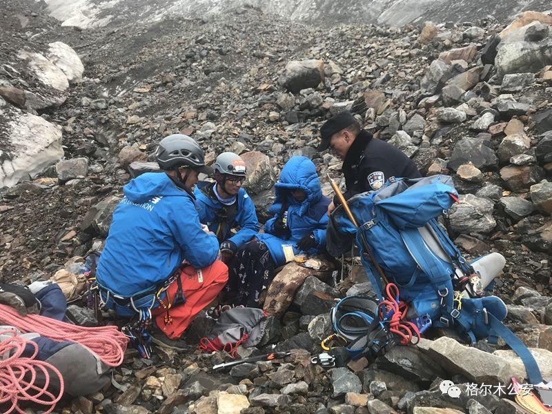 两男子爬玉珠峰被困