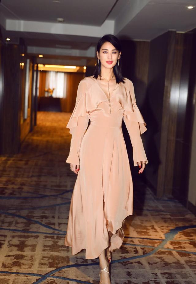 她嫁给杨子,演的作品基本都自己投资,36岁穿透视裙性感又优雅插图(5)