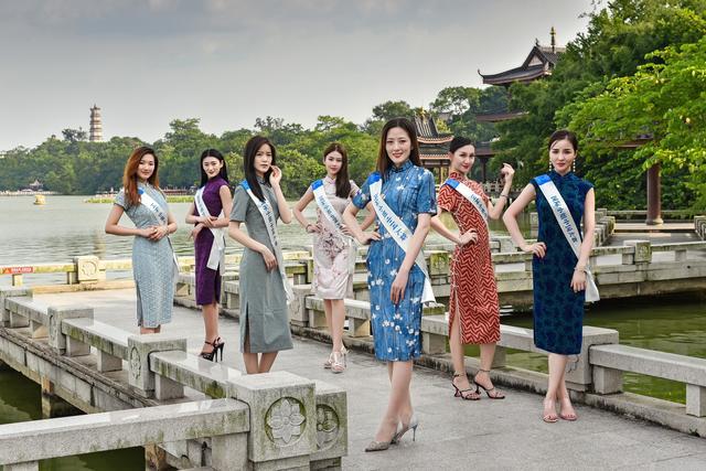 國際小姐游西湖  古典美大賞艷驚游客