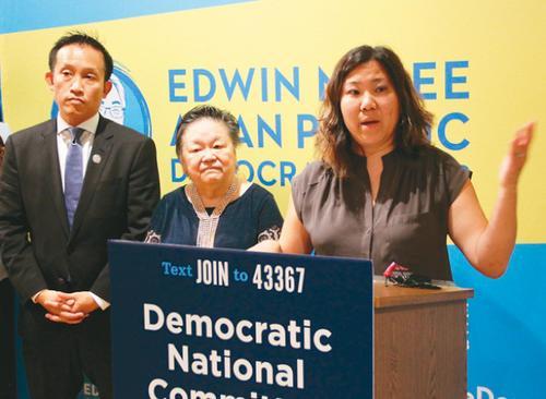 美国华裔国会议员孟昭文望亚裔参政比例提高