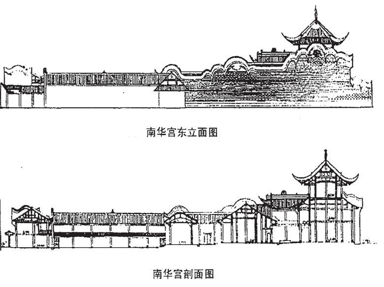 南華宮立面圖,剖面圖圖片