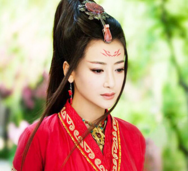 女星红衣古装造型,赵丽颖热巴林心如刘诗诗李沁娜扎,谁最魅惑