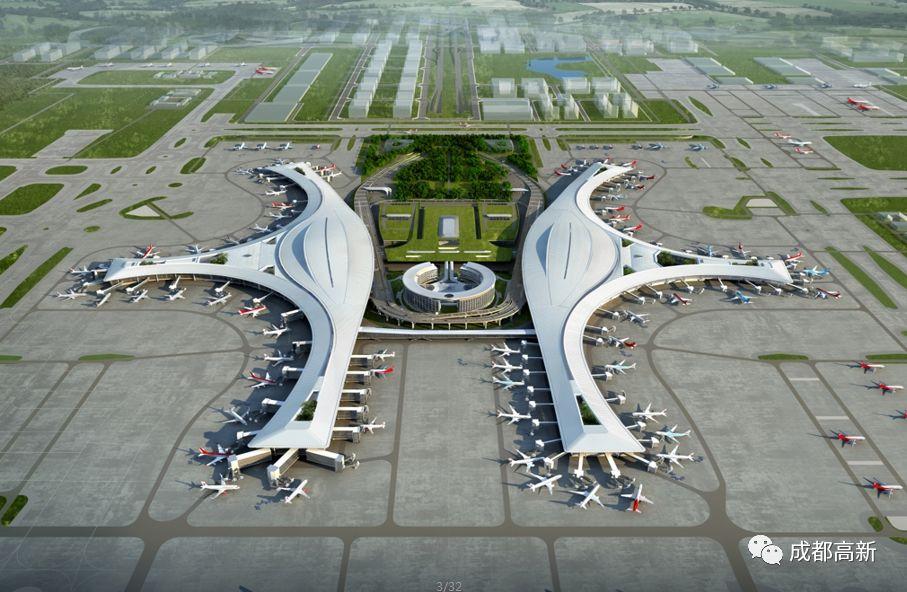 成都天府国际机场最新进展与规划图