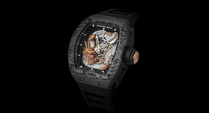 亚洲限量发布 55 只,里查德米尔水晶龙陀飞轮腕表