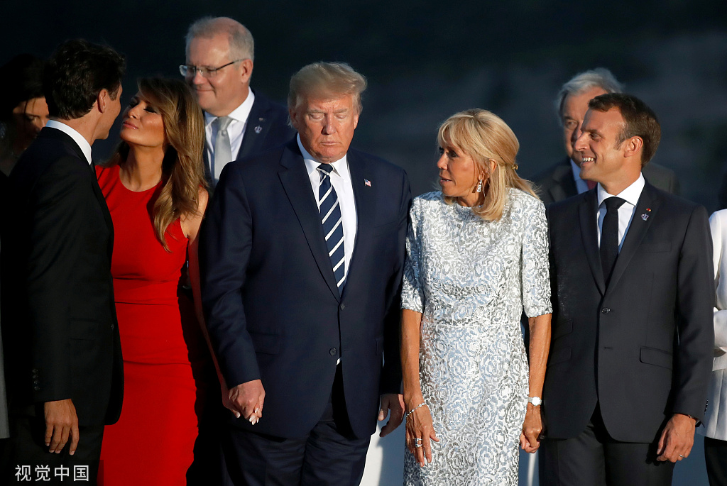 """特朗普G7四次提到中国,语气被描述在""""求和解"""""""