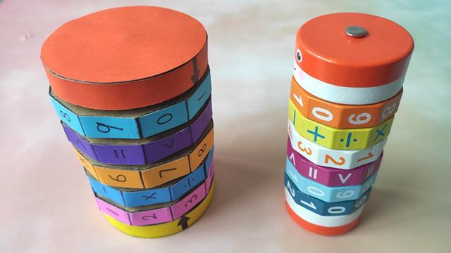 原创            用纸箱制作数字魔方玩具,操作简单好玩,可以提升宝宝的学习能力