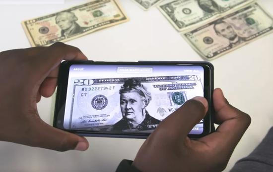 谷歌通过AR让女性头像出现在美国货币上