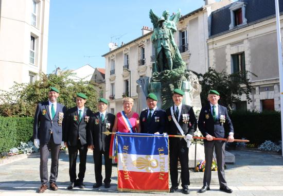 法國外籍兵團退伍華人協會參加科隆布解放75周年紀念活動