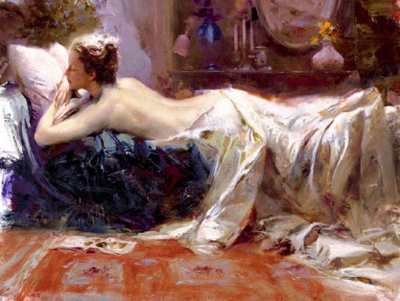 娇美浪漫,身着柔滑裙装的女神,真是太令人惊艳了