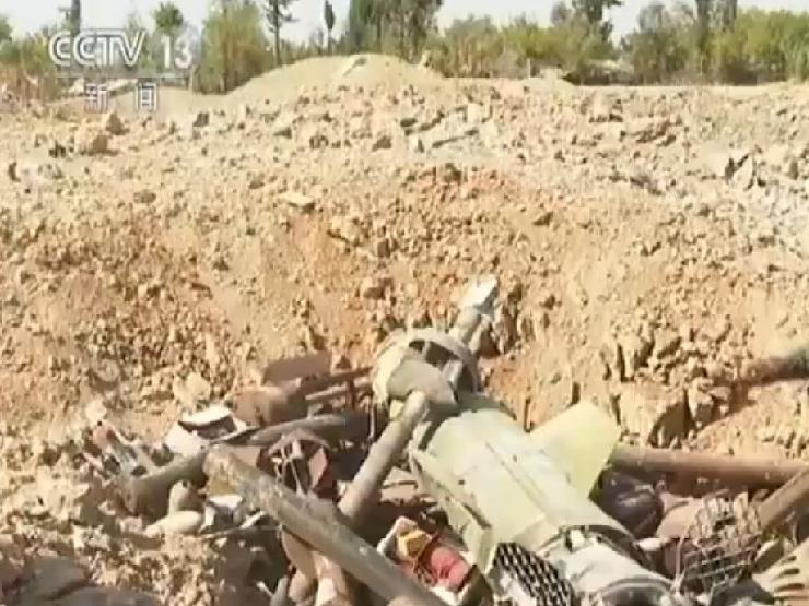 叙利亚政府军集中爆破残留爆炸物