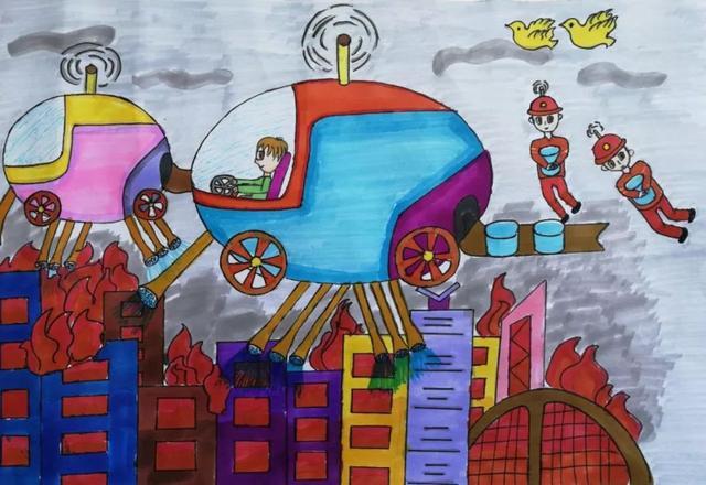 原标题:孩子眼中的消防员 盱眙县儿童消防作文绘画大赛参赛作品展 在孩子眼中, 消防是什么? 消防官兵是什么样的人? 消防车又有多少种神奇的可能?  在即将结束的暑期中,盱眙县消防救援大队在全县中小学组织开展了消防主题绘画作文作品征集活动。 少年儿童们纷纷拿起手中的笔,将自己对消防的感知理解用生动的文字及绘画展现出来,描绘火中逆行者消防员救援的英勇形象、对消防官兵的崇敬之情 以下是部分参赛绘画作品, 欢迎强势围观! 绘画 英雄篇