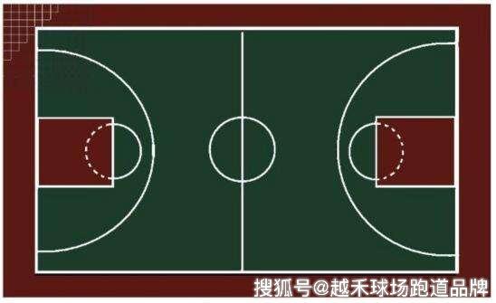 篮球场划线标准 塑胶跑道画线尺寸