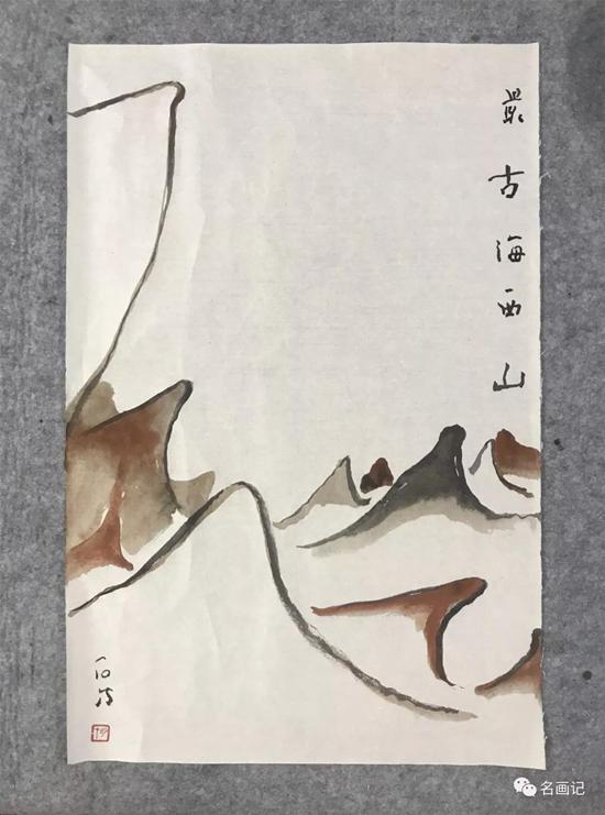"""""""冷湖、冷湖""""――2019年刘明才国画作品"""
