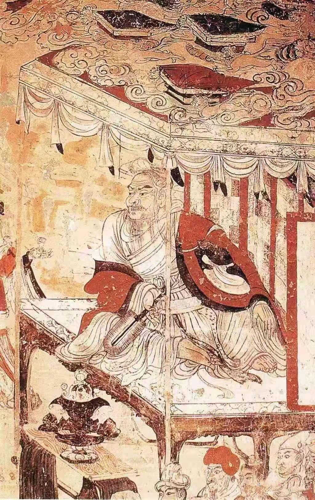 维摩诘像壁画
