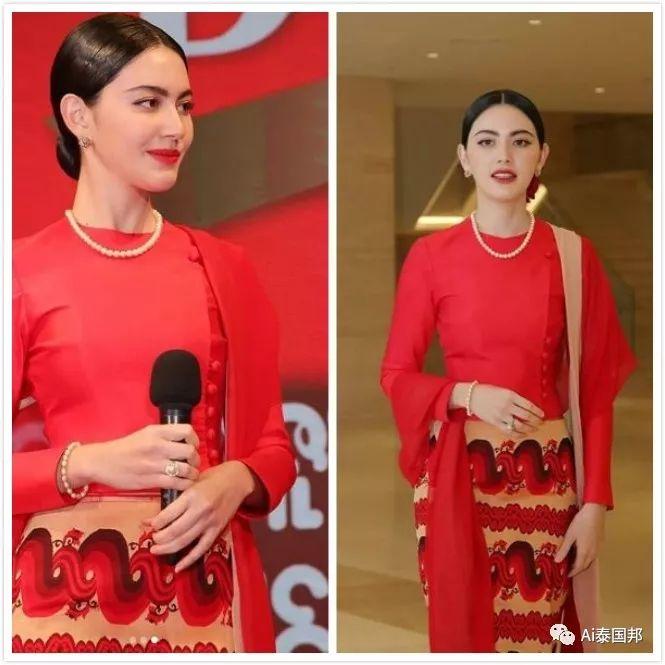 泰国第一神颜女星:明艳动人红衣亮相,撞脸多位国内女艺人