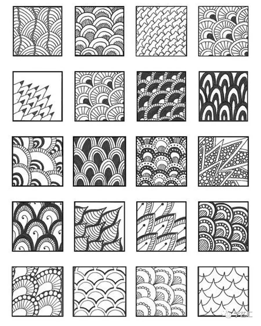 点线面儿童绘画作品_绘画素材丨学好装饰画,这些装饰线描设计训练一定有用~_进行