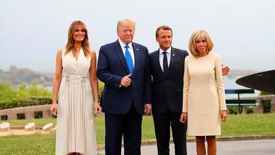 法国第一夫人上演换发型如换脸,没有了鸡窝头,盘起头发太惊艳!