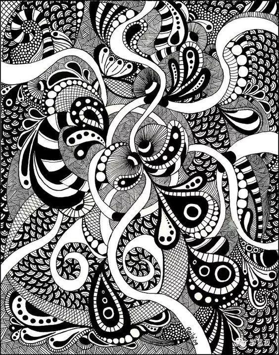绘画素材丨学好装饰画,这些装饰线描设计训练一定有用图片