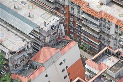 深圳一居民楼沉降倾斜未造成伤亡