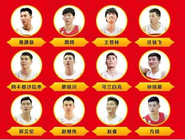 中国男篮12人大名单解析:李楠无奈祭出五后卫 锋线成最大软肋