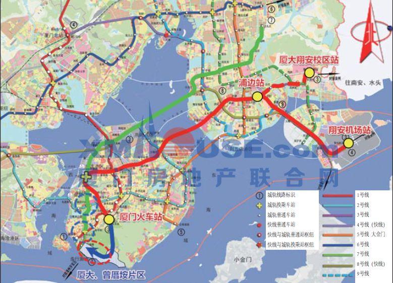厦门地铁2号规划图_厦门地铁3号线最新动态曝光, 还有7号线!_工程