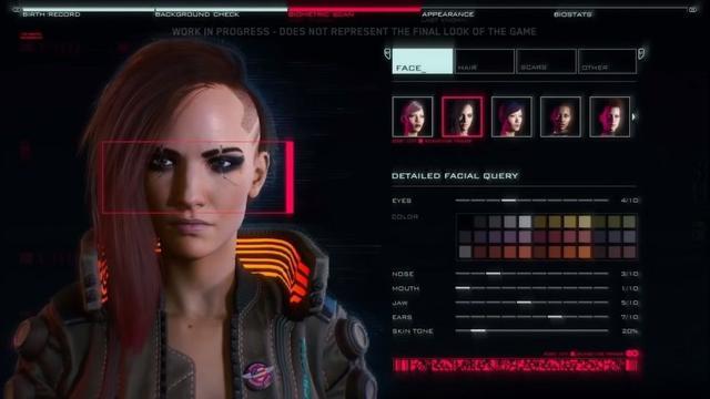 《赛博朋克2077》角色创建抛弃性别选项可双性别混搭