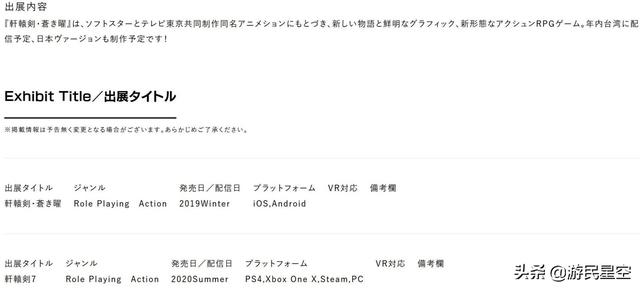 《轩辕剑7》将登陆PS4、Xbox One和PC 明年夏季发售
