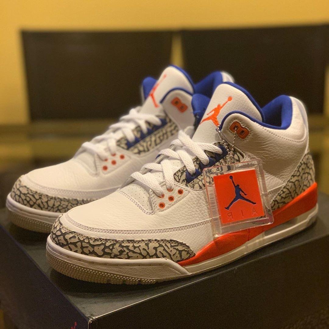 发售日期提前?Air Jordan 3 尼克斯下月登场!