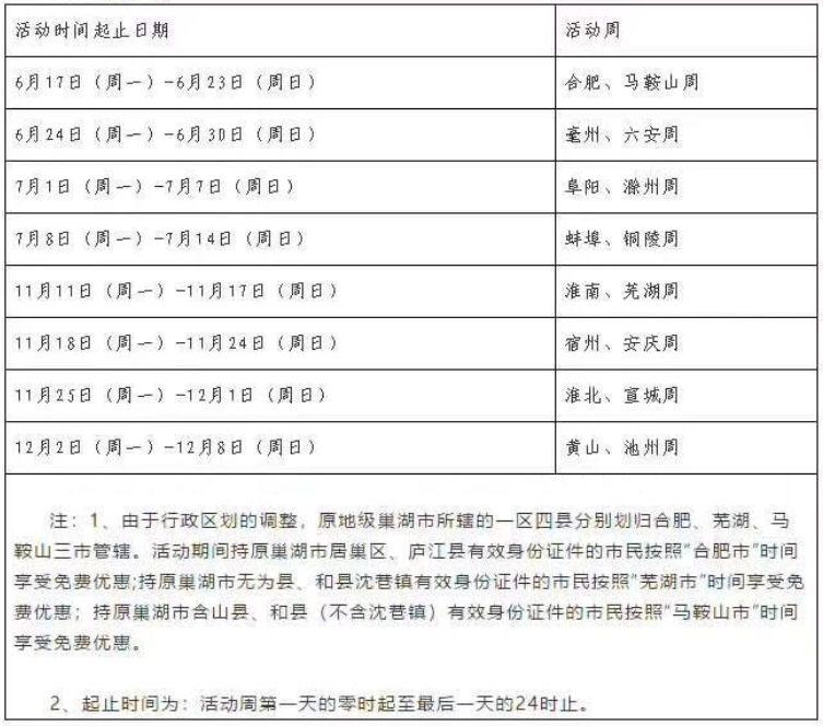 九华山每年都有免费周活动,2019年免费周旅游出发:(三)池州活动卡:池吉林市如下自驾游攻略图片
