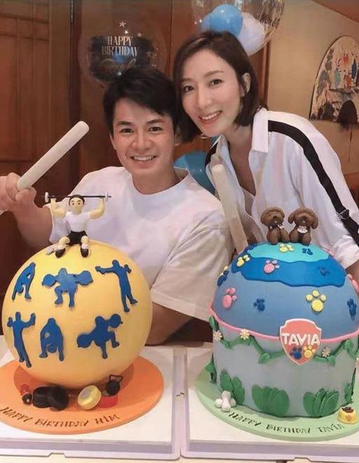 TVB视后同老公同一天庆生 两夫妻童心未泯首次体验最流行糖果蛋糕
