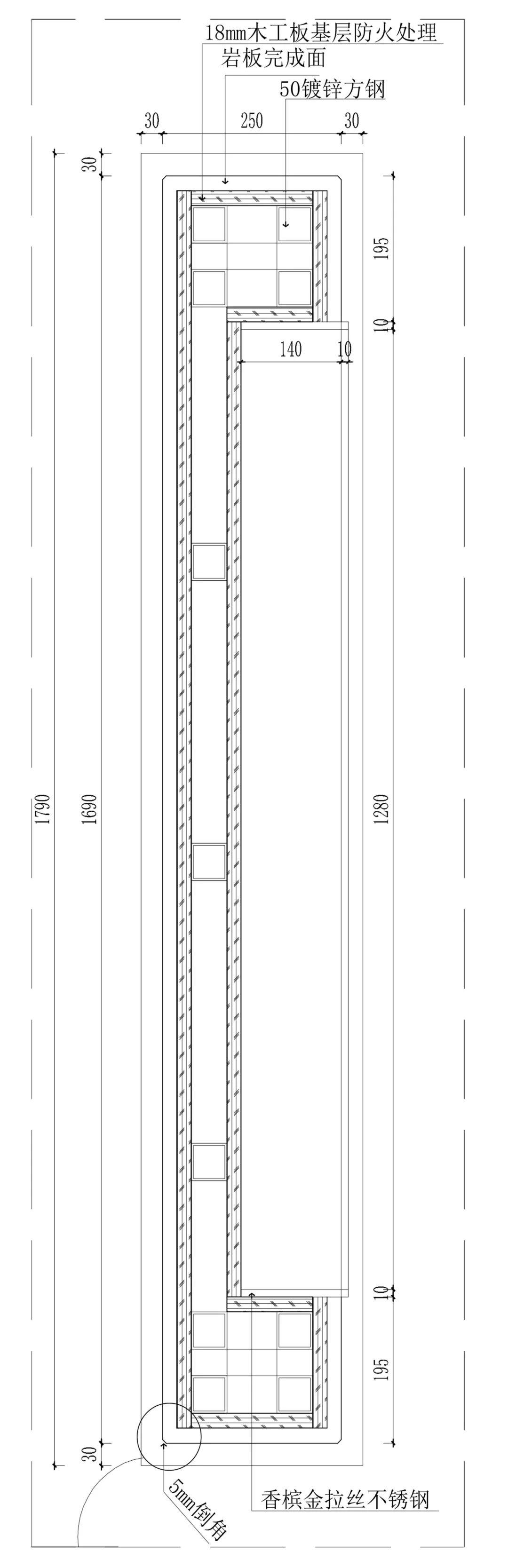"""不锈钢门套施工图_教你如何利用不同材质的隔断,打造出""""琚宾之家""""的通透室内 ..."""