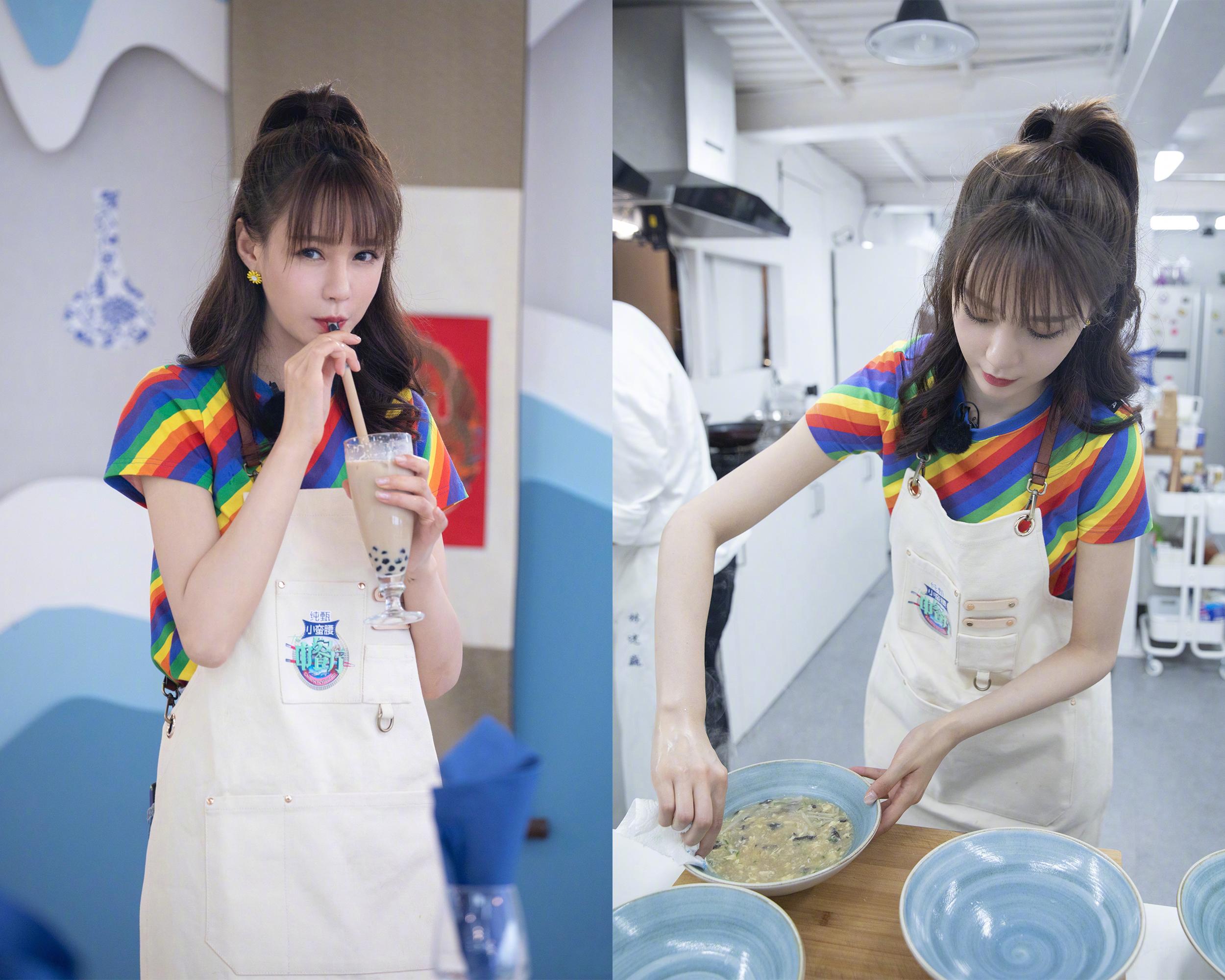 30岁沈梦辰美回初恋,2套t恤造型上《中餐厅》,海涛真没白宠