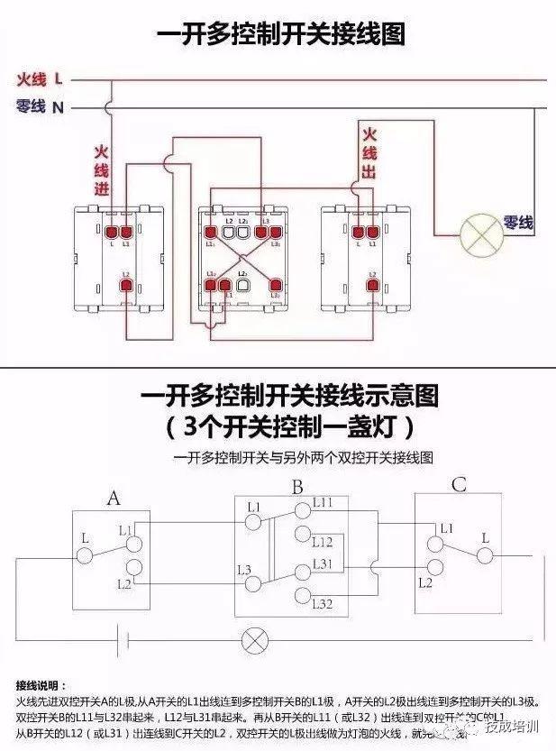 接线图大全 包含各种开关 接触器 断路器 热电偶 电